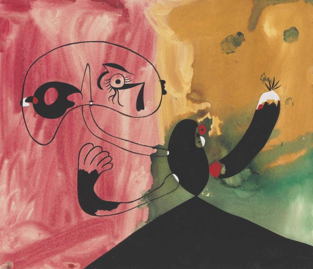 Joan Miro Kadın 1930, Figür, Joan Miro, kanvas tablo, canvas print sales