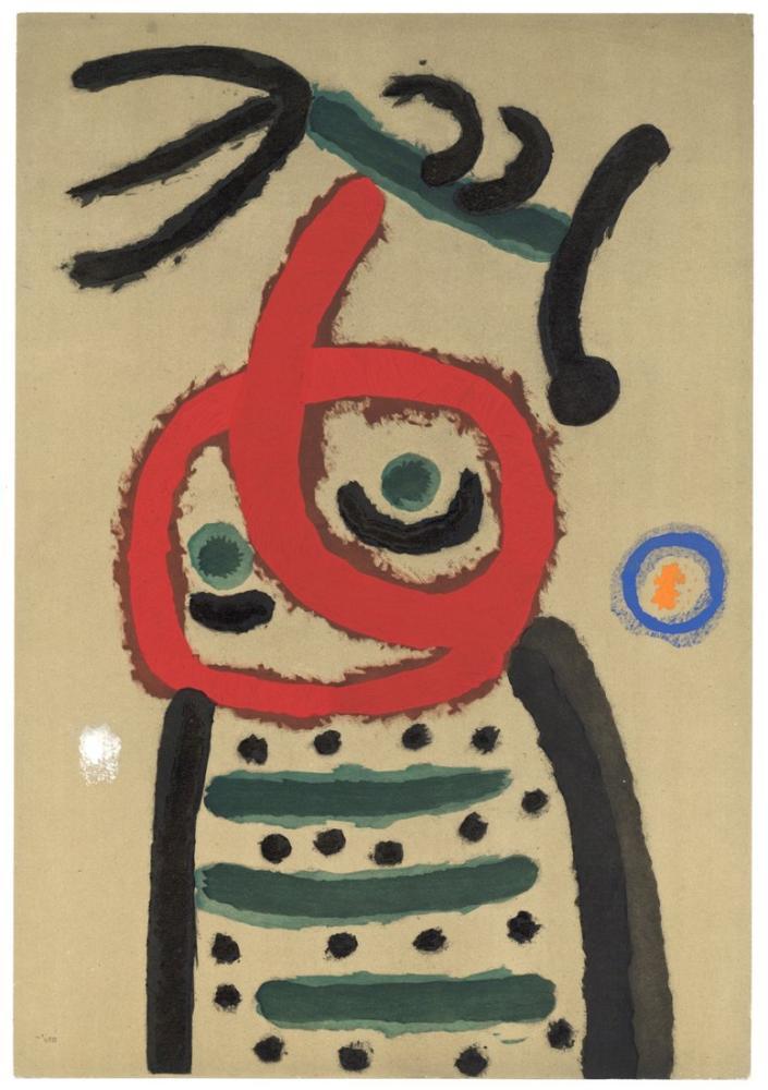 Joan Miro Femme Et Oiseau, Figure, Joan Miro, jm73