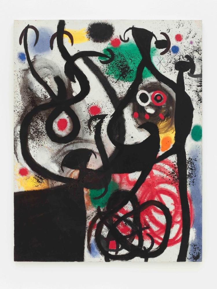 Joan Miro Kadın Ve Gece Kuşu, Figür, Joan Miro, kanvas tablo, canvas print sales