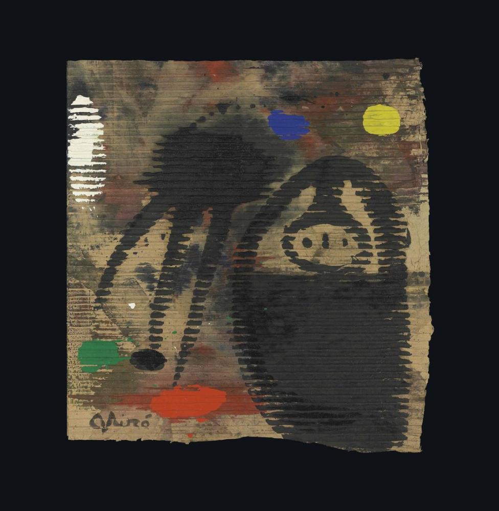 Joan Miro Kadın Ve Ayın Altında Kuş, Figür, Joan Miro, kanvas tablo, canvas print sales