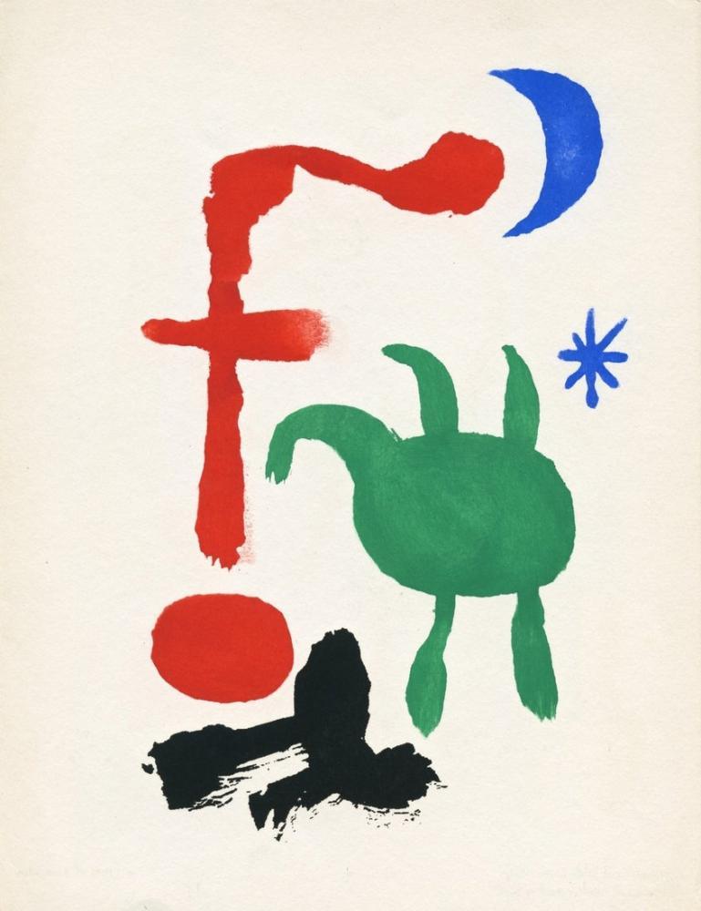 Joan Miro Gece Kadın Ve Kuşlar, Figür, Joan Miro, kanvas tablo, canvas print sales