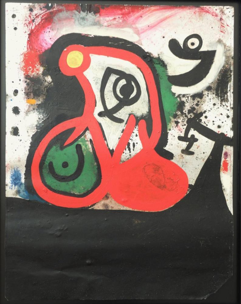 Joan Miro Femme Oiseau I, Figure, Joan Miro, kanvas tablo, canvas print sales
