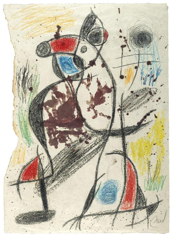 Joan Miro Femme Oiseau II, Figure, Joan Miro, kanvas tablo, canvas print sales