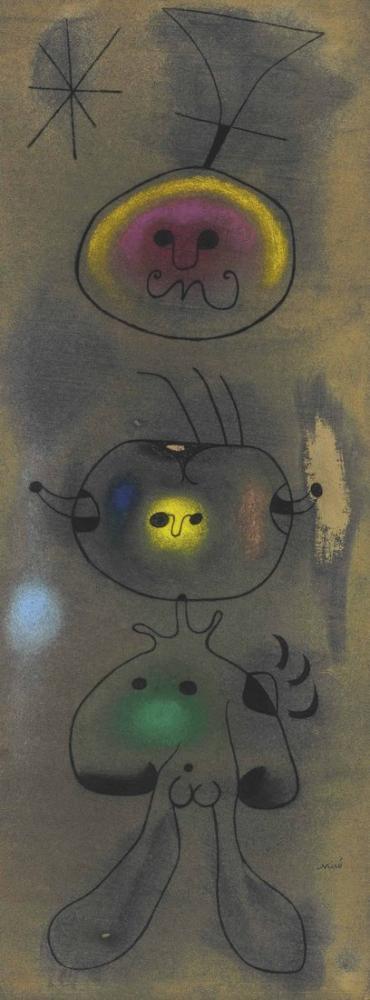 Joan Miro Femme Oiseau Etoile, Figure, Joan Miro, kanvas tablo, canvas print sales
