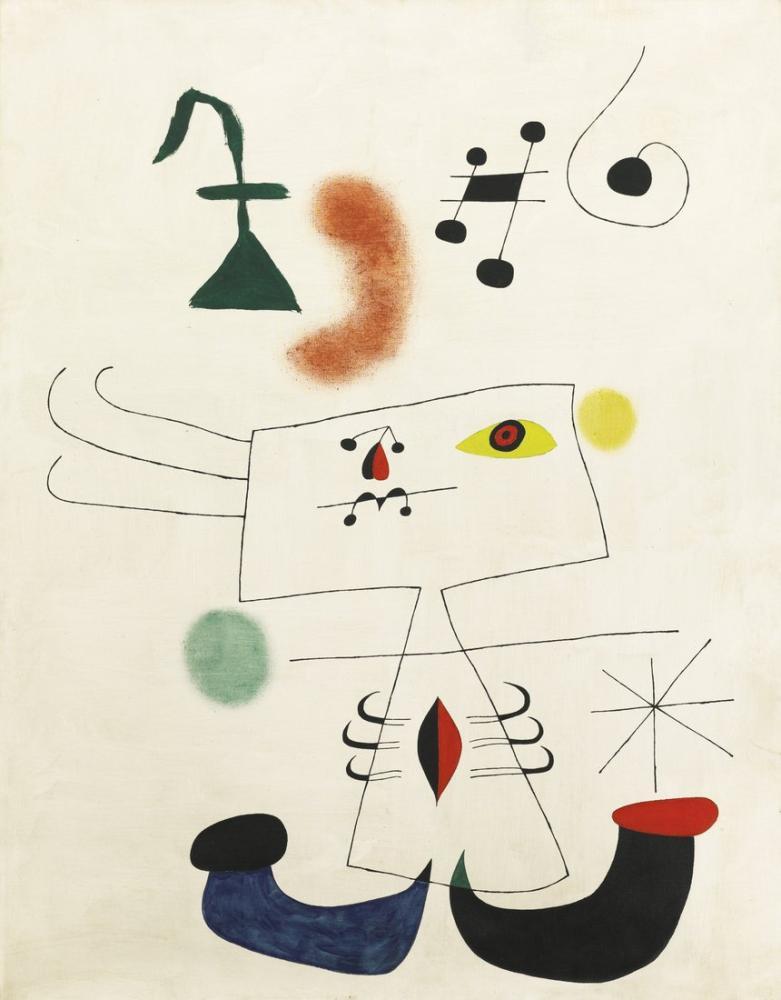 Joan Miro Femme Revant De l Evasion, Figure, Joan Miro, kanvas tablo, canvas print sales