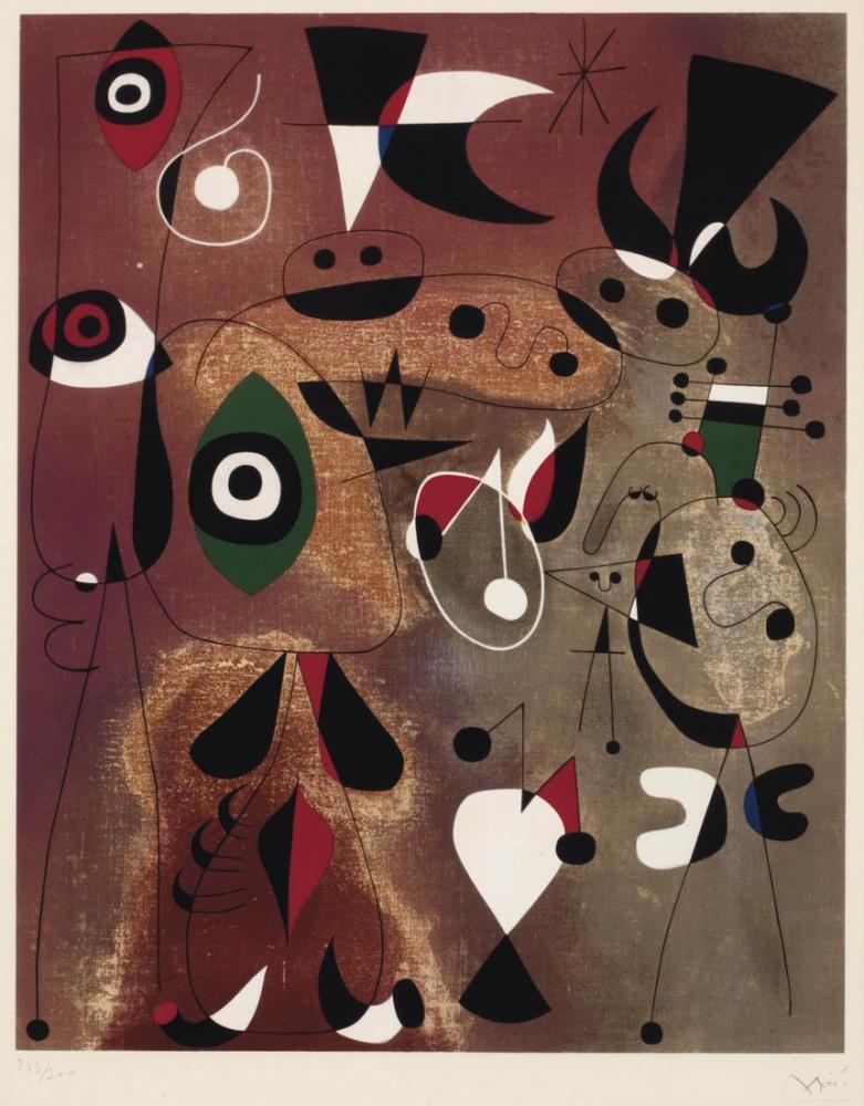 Joan Miro Yıldız Kuşları, Figür, Joan Miro, jm90