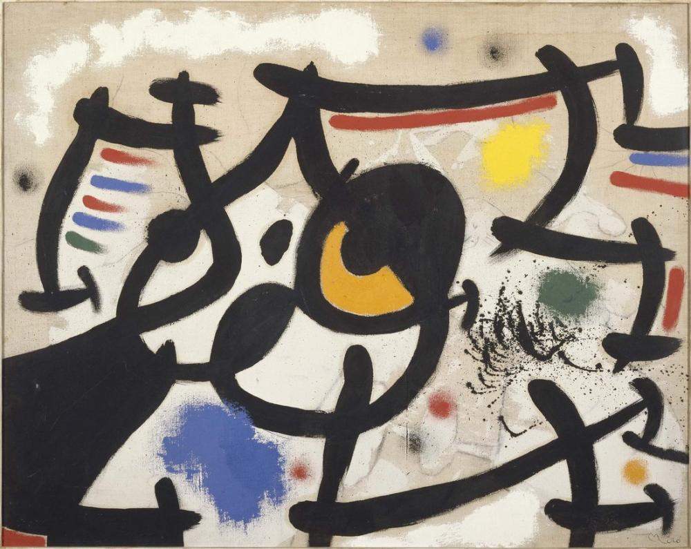 Joan Miro Kadın VI, Figür, Joan Miro, kanvas tablo, canvas print sales