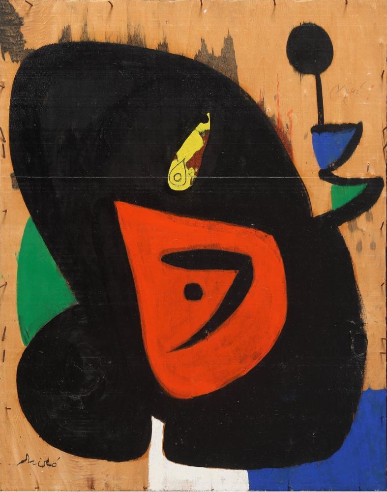 Joan Miro Figure and Bird, Figure, Joan Miro, kanvas tablo, canvas print sales