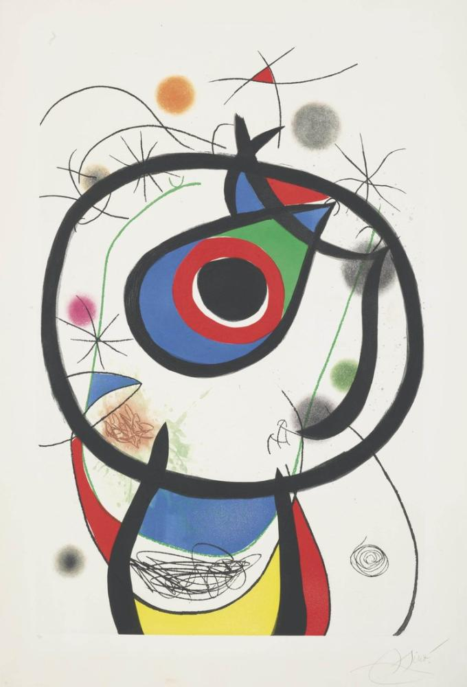 Joan Miro Galathee, Figure, Joan Miro, kanvas tablo, canvas print sales