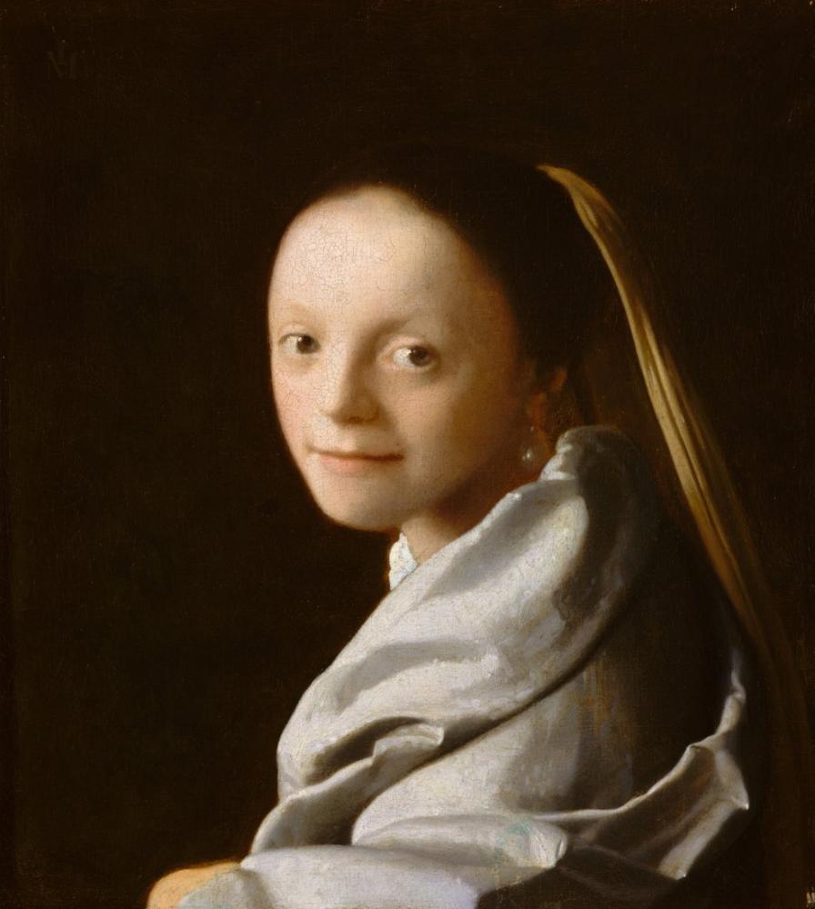 Johannes Vermeer Genç Bir Kadın Portresi, Kanvas Tablo, Johannes Vermeer, kanvas tablo, canvas print sales