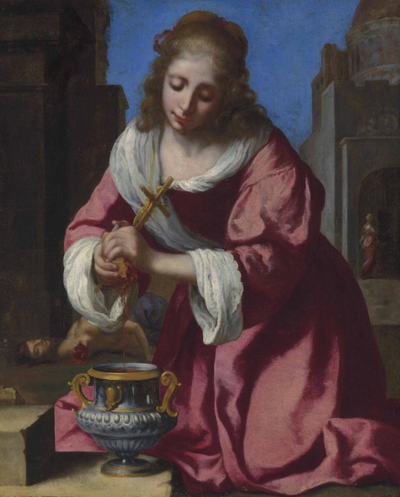 Johannes Vermeer Saint Praxedis, Canvas, Johannes Vermeer, kanvas tablo, canvas print sales