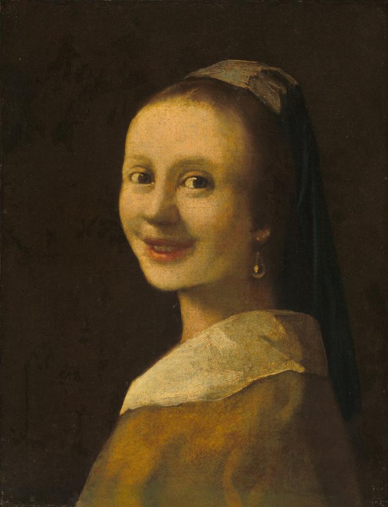 Johannes Vermeer Smiling Girl, Canvas, Johannes Vermeer, kanvas tablo, canvas print sales