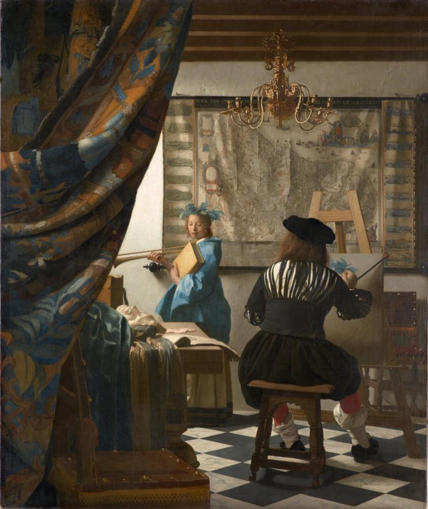 Johannes Vermeer Resim Sanatı, Kanvas Tablo, Johannes Vermeer, kanvas tablo, canvas print sales