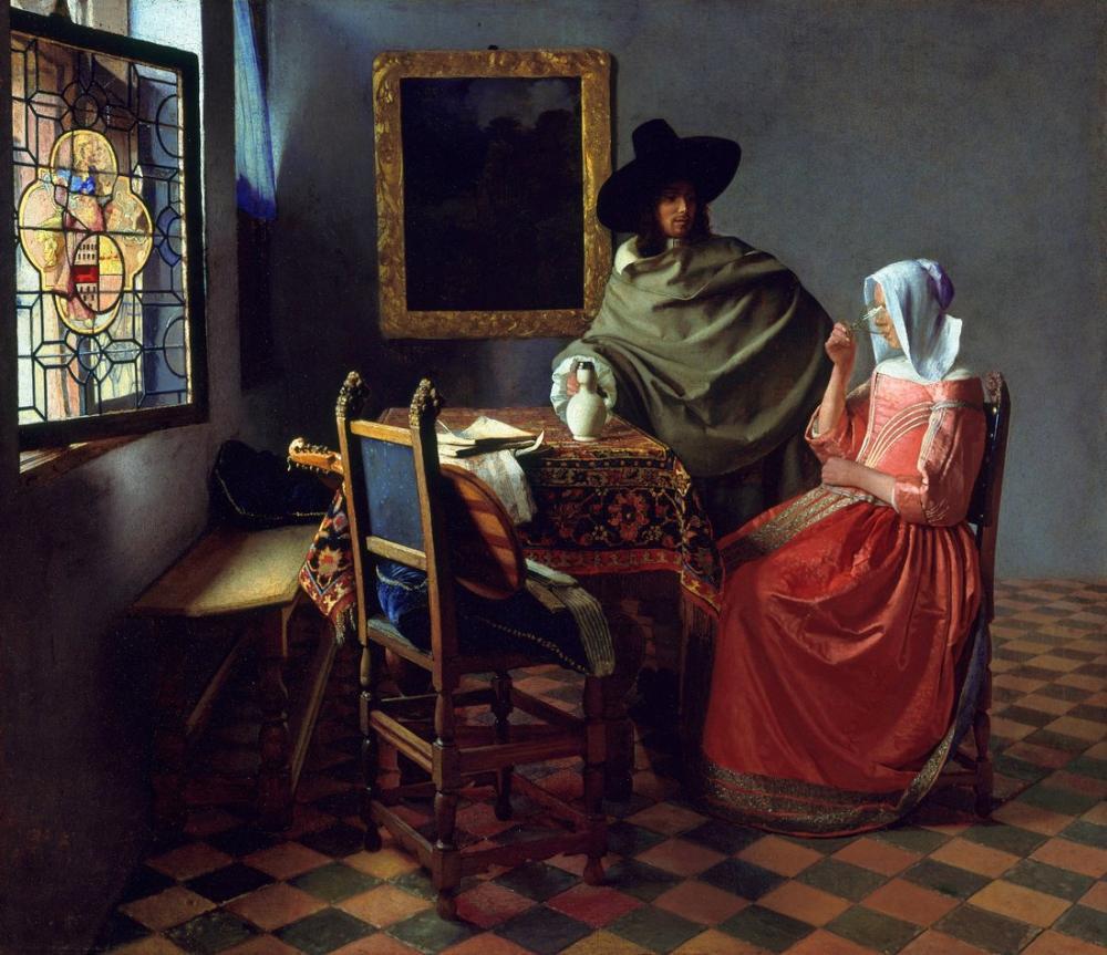 Johannes Vermeer Şarap Kadehi, Kanvas Tablo, Johannes Vermeer, kanvas tablo, canvas print sales