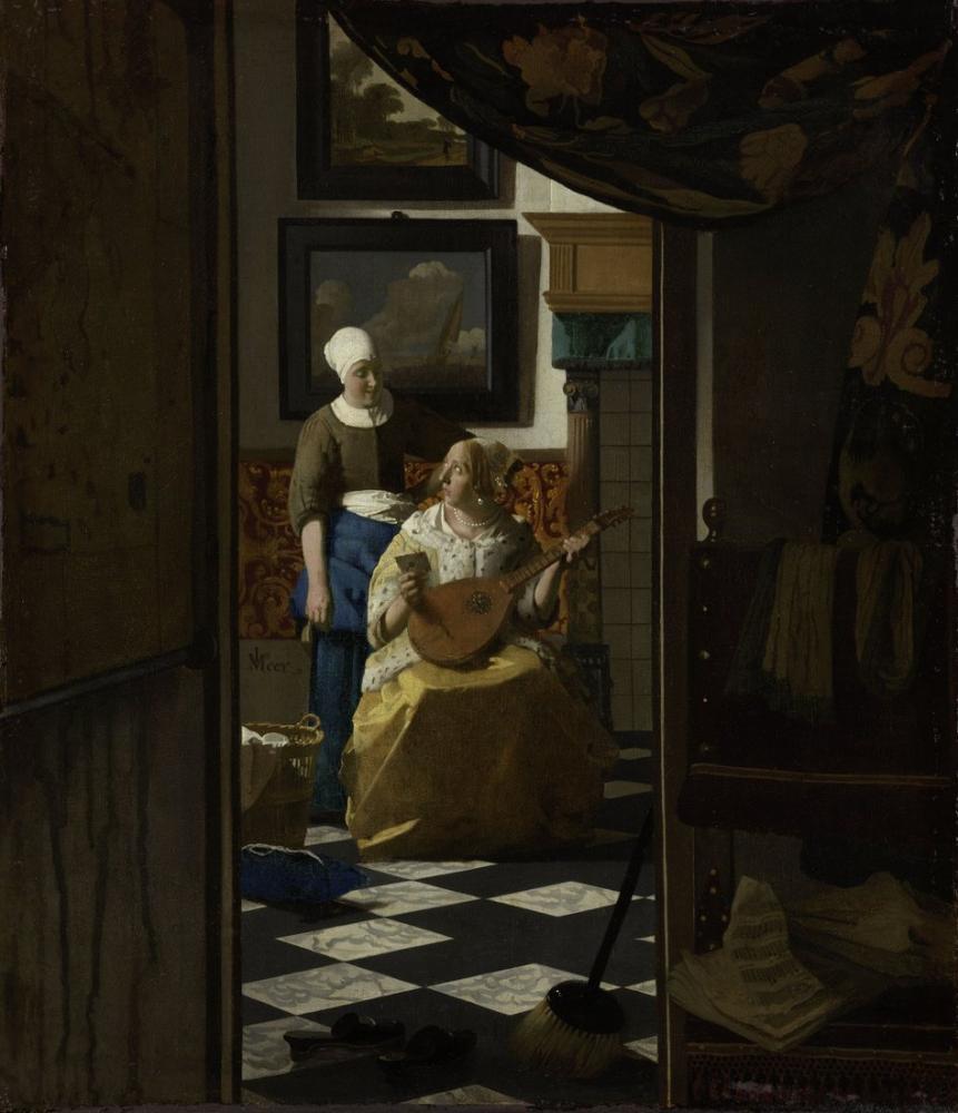 Johannes Vermeer The Love Letter, Canvas, Johannes Vermeer, kanvas tablo, canvas print sales