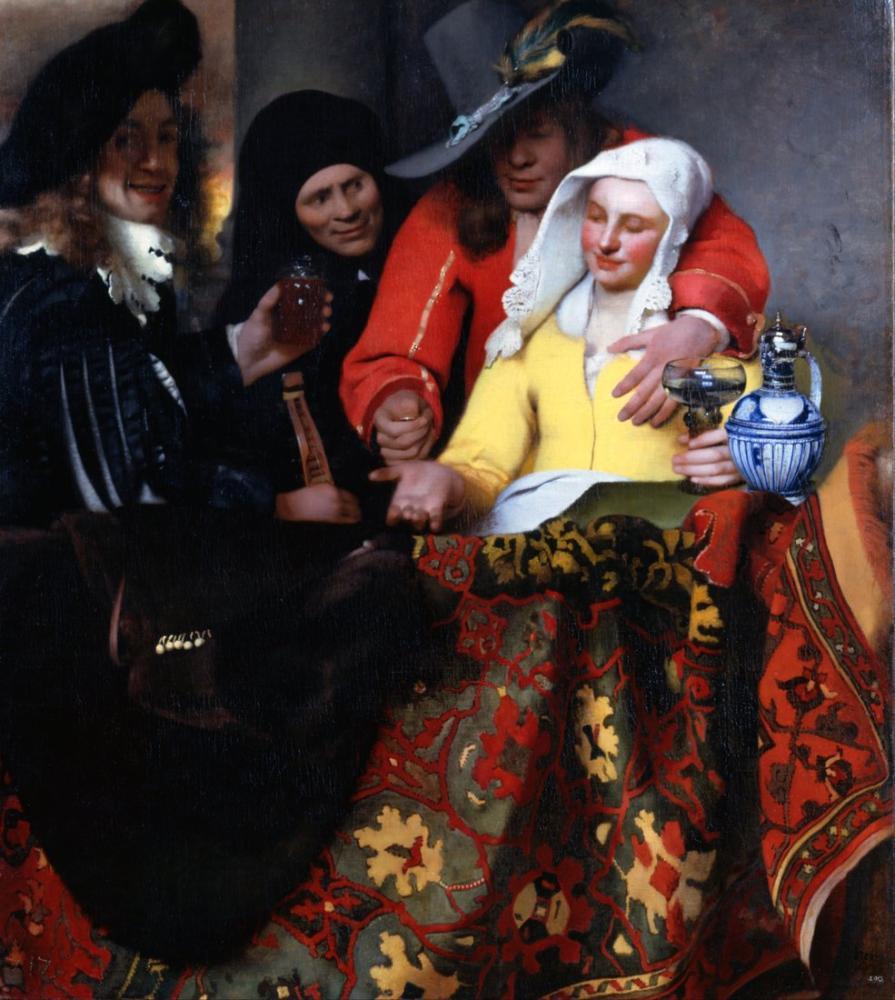 Johannes Vermeer The Procuress, Canvas, Johannes Vermeer, kanvas tablo, canvas print sales