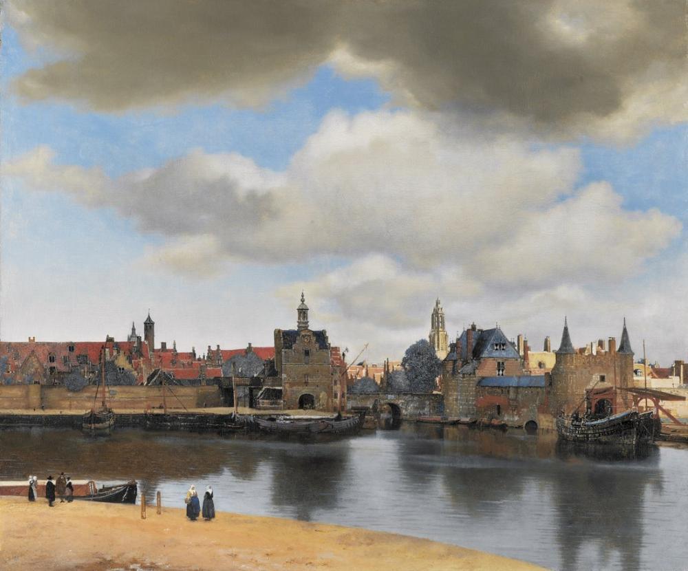 Johannes Vermeer Delft Görünümü, Kanvas Tablo, Johannes Vermeer, kanvas tablo, canvas print sales