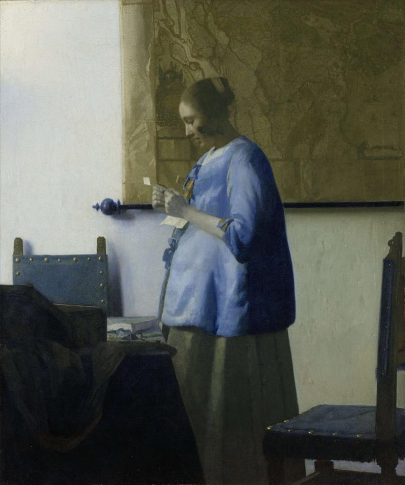 Johannes Vermeer Woman Reading A Letter, Canvas, Johannes Vermeer, kanvas tablo, canvas print sales
