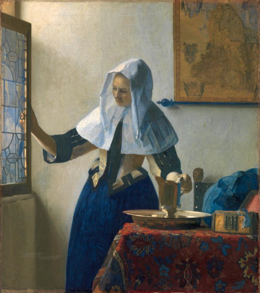 Johannes Vermeer Woman With A Water Jug, Canvas, Johannes Vermeer, kanvas tablo, canvas print sales