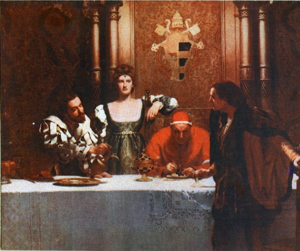 John Collier Sezar Borgia İle Bir Kadeh Şarap, Kanvas Tablo, John Collier, kanvas tablo, canvas print sales