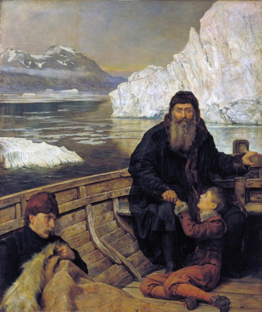 John Collier Last Voyage Of Henry Hudson, Canvas, John Collier, kanvas tablo, canvas print sales