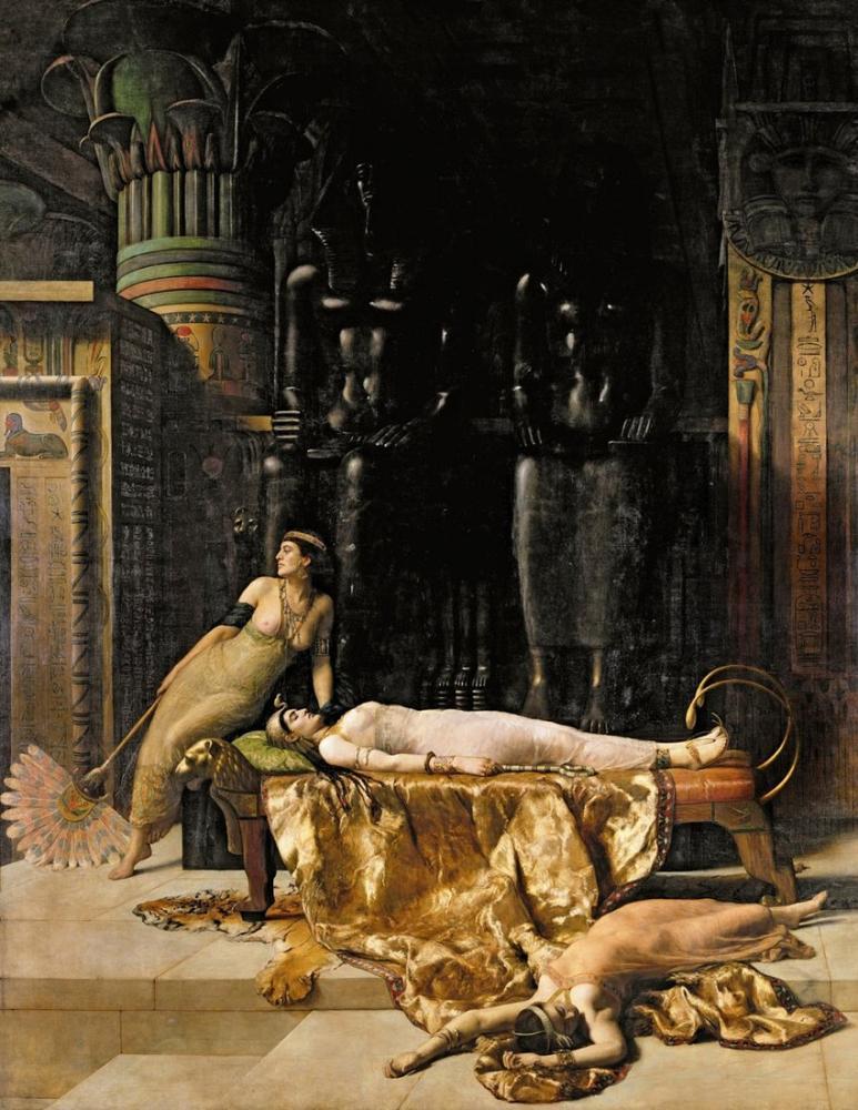 John Collier Kleopatra Ölümü, Kanvas Tablo, John Collier, kanvas tablo, canvas print sales