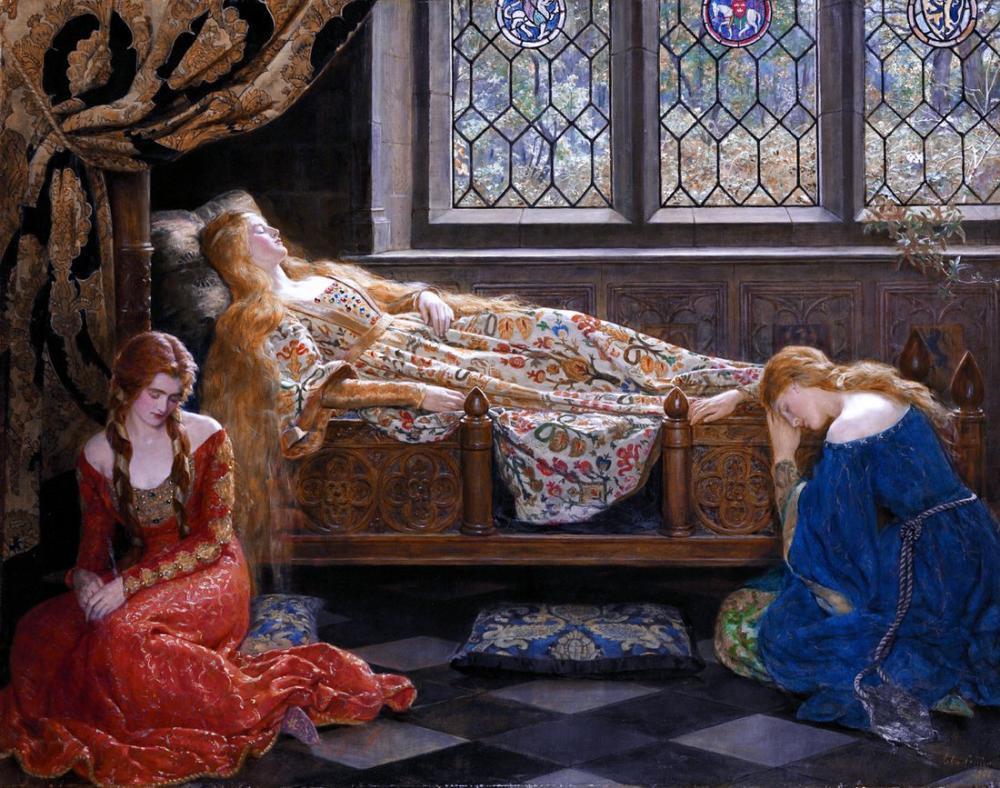 John Collier The Sleeping Beauty, Canvas, John Collier, kanvas tablo, canvas print sales