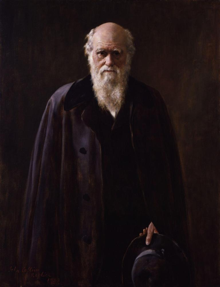 John Collier Charles Darwin, Kanvas Tablo, John Collier, kanvas tablo, canvas print sales