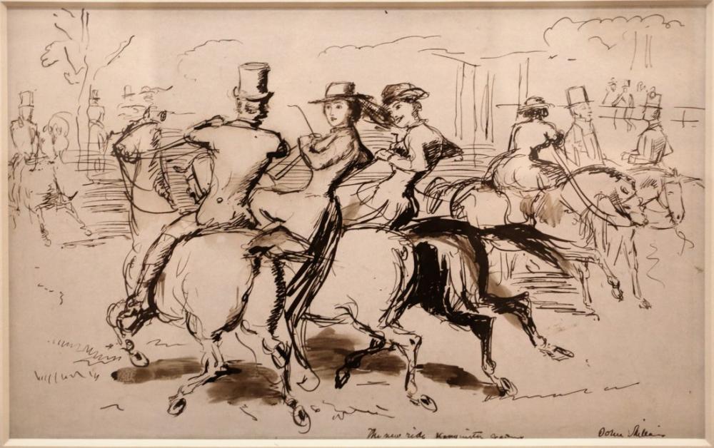 John Everett Millais New Ride Kensington Gardens, Canvas, John Everett Millais, kanvas tablo, canvas print sales