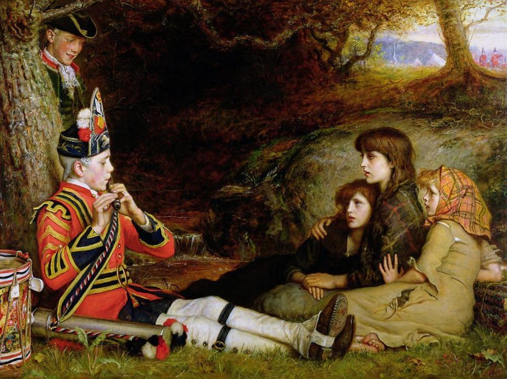 John Everett Millais 1745 İdil, Kanvas Tablo, John Everett Millais, kanvas tablo, canvas print sales
