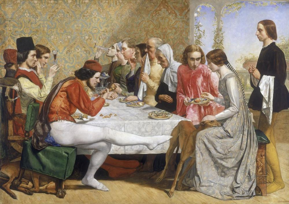 John Everett Millais Isabella, Kanvas Tablo, John Everett Millais, kanvas tablo, canvas print sales