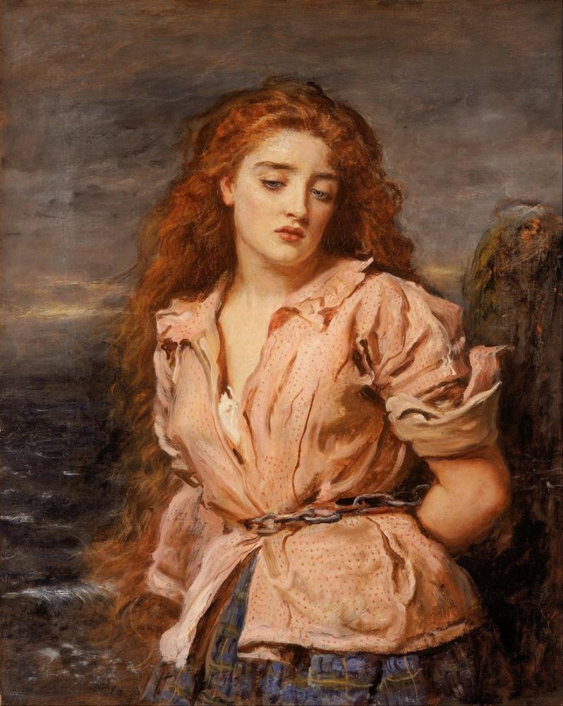 John Everett Millais Solway Şehitliği, Kanvas Tablo, John Everett Millais, kanvas tablo, canvas print sales