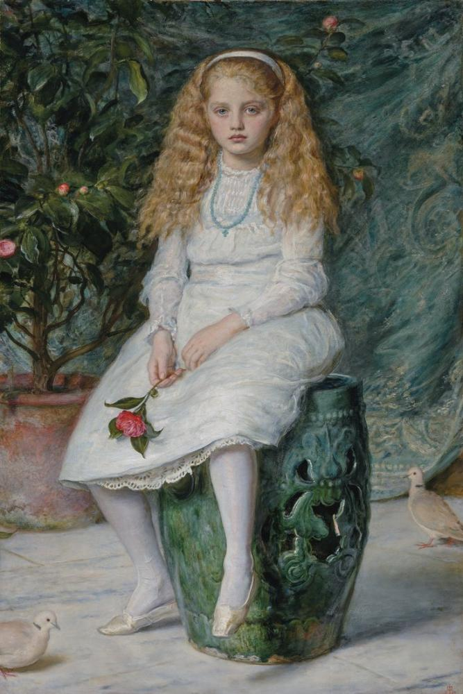 John Everett Millais Nina Daughter Of Frederick Lehmann, Canvas, John Everett Millais, kanvas tablo, canvas print sales