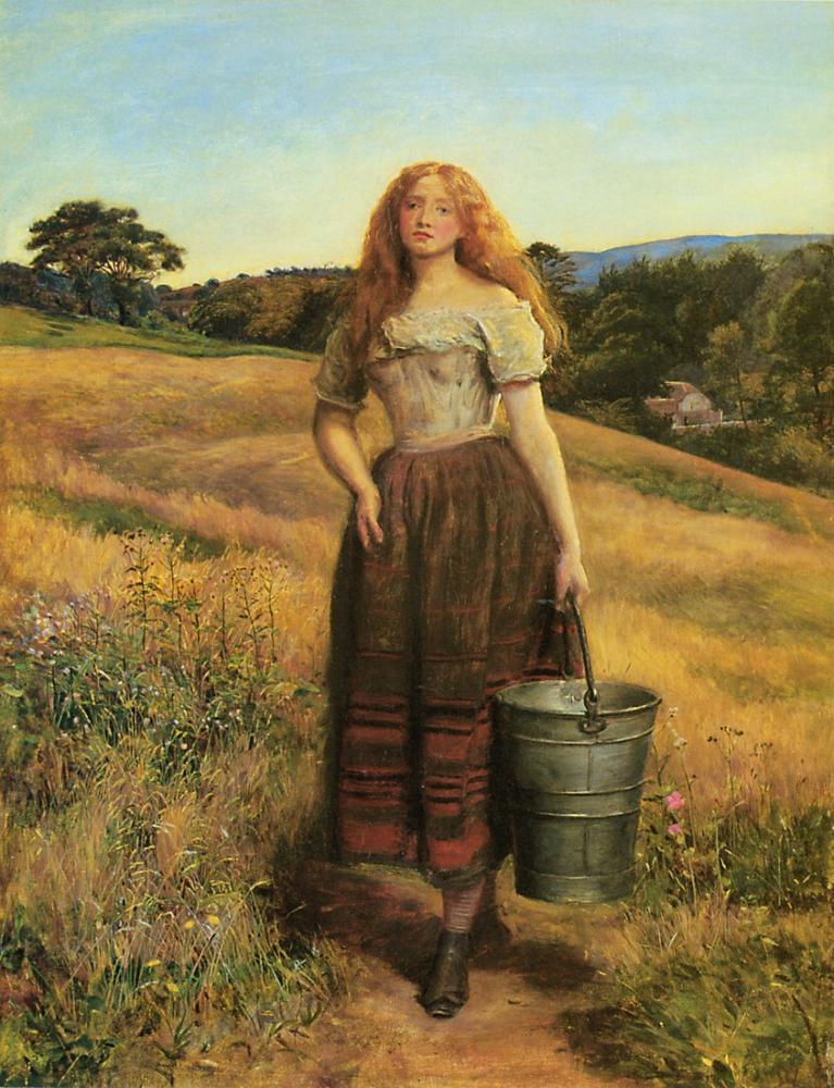 John Everett Millais Çiftçi Kızı, Kanvas Tablo, John Everett Millais, kanvas tablo, canvas print sales