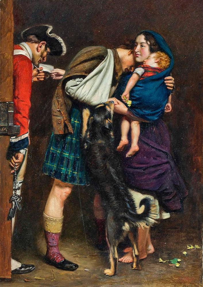 John Everett Millais Serbest Bırakma Emrinden Sonra, Kanvas Tablo, John Everett Millais, kanvas tablo, canvas print sales