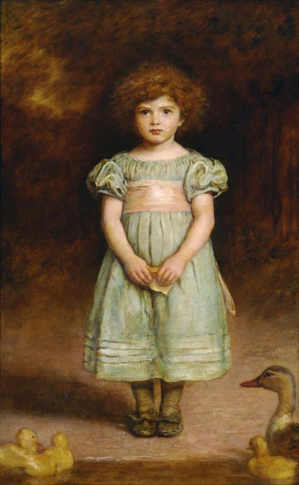 John Everett Millais Ördek Yavrusu, Kanvas Tablo, John Everett Millais, kanvas tablo, canvas print sales
