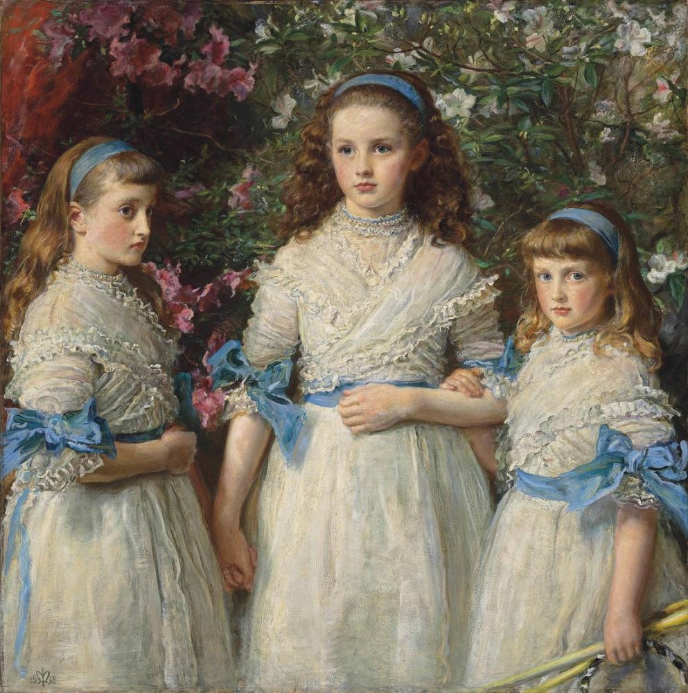 John Everett Millais Kız Kardeşler, Kanvas Tablo, John Everett Millais, kanvas tablo, canvas print sales
