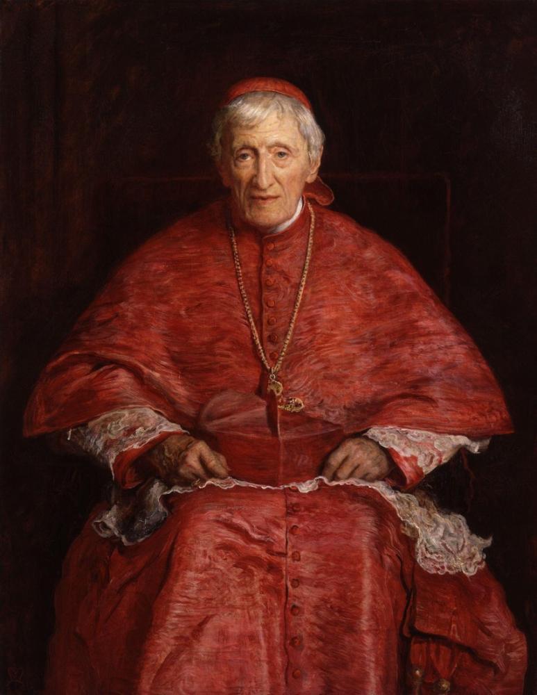 John Everett Millais John Henry Newman, Canvas, John Everett Millais, kanvas tablo, canvas print sales