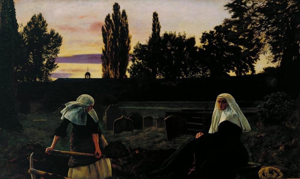 John Everett Millais The Vale Of Rest, Canvas, John Everett Millais, kanvas tablo, canvas print sales