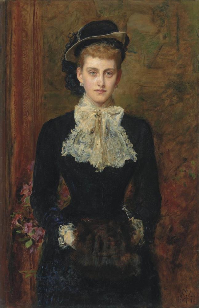 John Everett Millais Portrait Of Young Girl, Canvas, John Everett Millais, kanvas tablo, canvas print sales