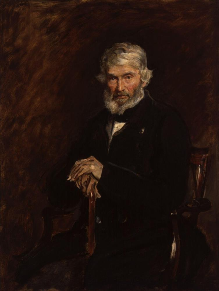 John Everett Millais Thomas Carlyle, Kanvas Tablo, John Everett Millais, kanvas tablo, canvas print sales