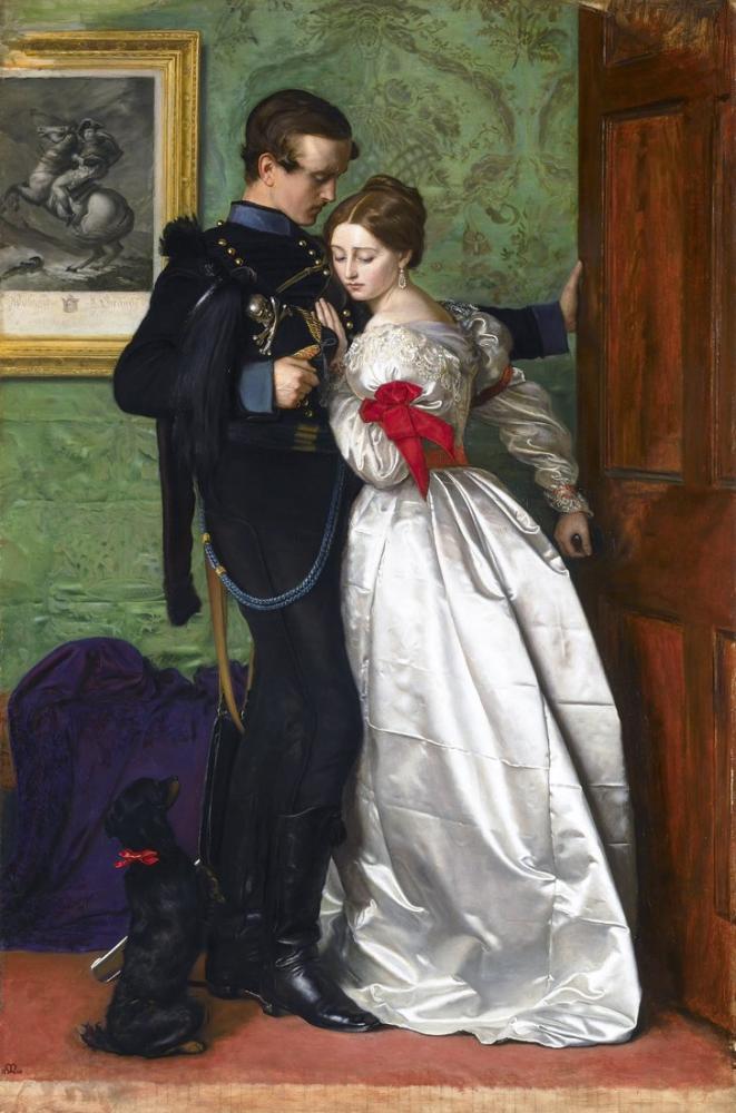 John Everett Millais Kara Brunswicker, Kanvas Tablo, John Everett Millais, kanvas tablo, canvas print sales