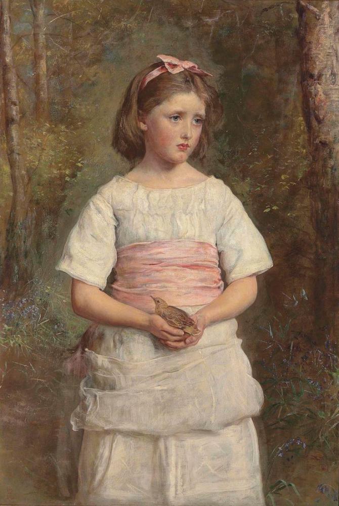 John Everett Millais Yuvadan Düştü, Kanvas Tablo, John Everett Millais, kanvas tablo, canvas print sales