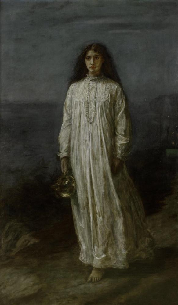 John Everett Millais The Somnambulist, Canvas, John Everett Millais, kanvas tablo, canvas print sales