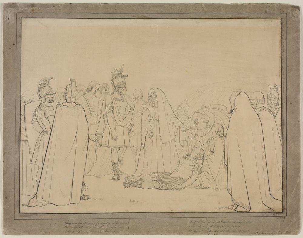 John Everett Millais Aeneas Shown The Body Of Pallas From Virgils Aeneid, Canvas, John Everett Millais, kanvas tablo, canvas print sales