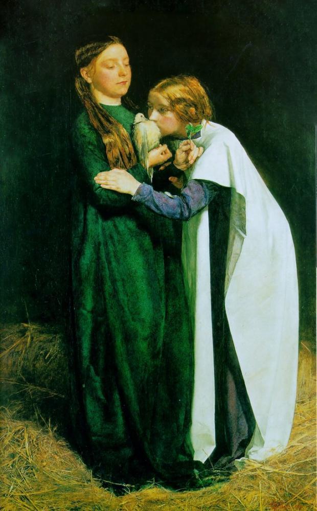 John Everett Millais Güvercinin Mavnaya Dönüşü, Kanvas Tablo, John Everett Millais, kanvas tablo, canvas print sales