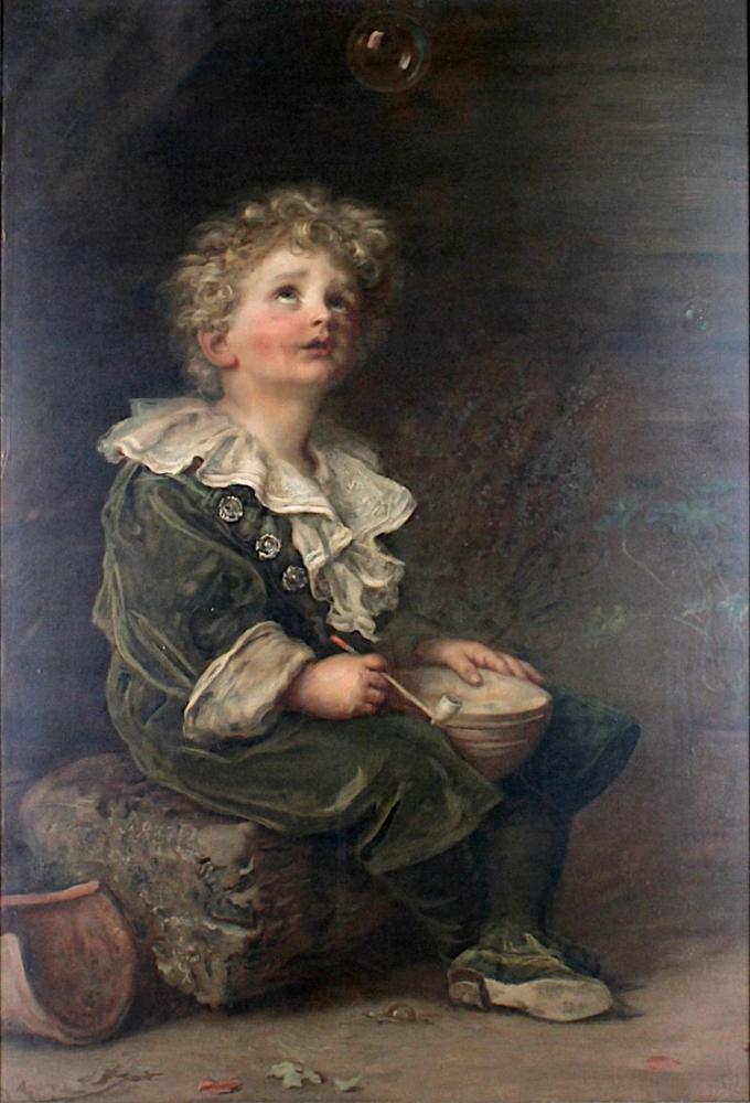 John Everett Millais Baloncuklar, Kanvas Tablo, John Everett Millais, kanvas tablo, canvas print sales