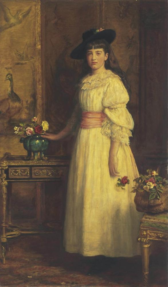 John Everett Millais Miss Gertrude Vanderbilt, Canvas, John Everett Millais, kanvas tablo, canvas print sales