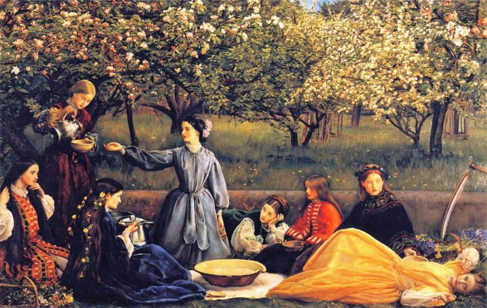 John Everett Millais Apple Blossoms Spring, Canvas, John Everett Millais, kanvas tablo, canvas print sales