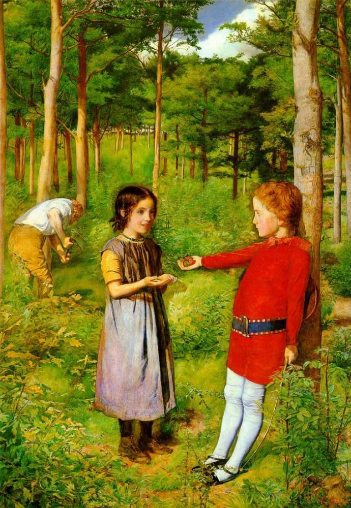 John Everett Millais Woodman Kızı, Kanvas Tablo, John Everett Millais, kanvas tablo, canvas print sales